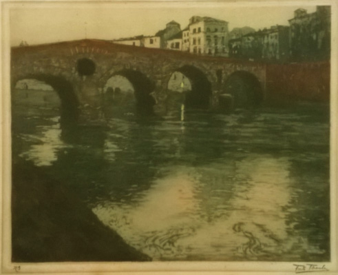 Fritz Thaulow The Verona Bridge